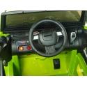 Elektrický džíp Wrangler s 2,4G DO, EVA koly s ložisky, USB, SD, Mp3, FM rádiem, zelený