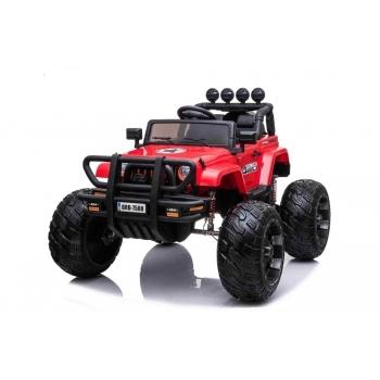 Wrangler Monster Truck s 2,4G na obrovských kolech, 2x200W/24V, červený