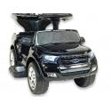 Ford Ranger s vodící tyčí, stříškou a madly, pro nejmenší, černá metalíza