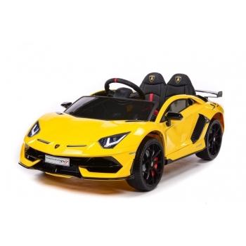 Sportovní elektrické autíčko Lamborghini Aventador lakované žluté