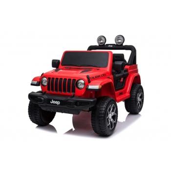 Elektrický džíp Jeep Wrangler Rubicon, červený