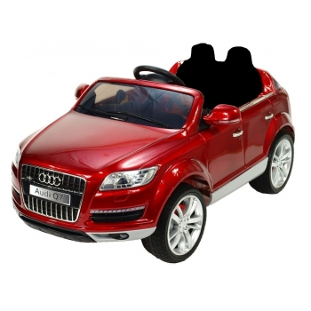 Elektrické SUV Audi Q7 s 2,4G, jednomístné, vínová metalíza