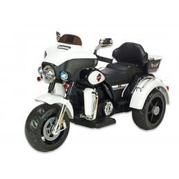 Dvoumístná motorka Big Chopper, bílý
