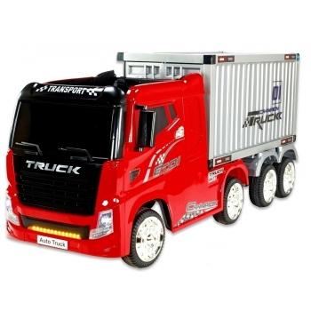 Kamion Truck Champion s návěsem a kontejnerem s 2,4G, 4x4, červený