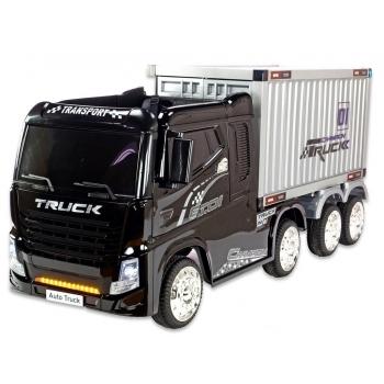 Kamion Truck Champion s návěsem a kontejnerem s 2,4G, 4x4, černý