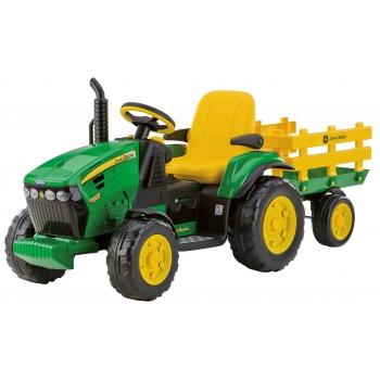 Elektrický traktor Peg-Pérego, John Deere Ground Force s vlekem, zelený