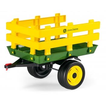Vlek Peg-Pérego John Deere Stake-Trailer pro traktory John Deere, žlutý