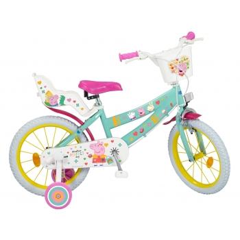 """Dětské kolo prasátko Peppa, velikost 16"""""""