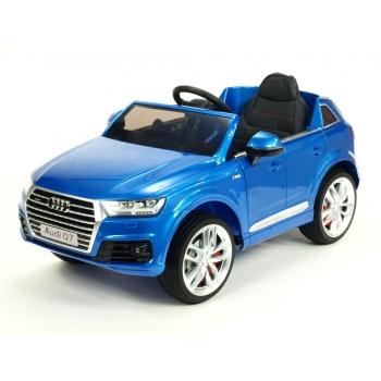 Dětské elektrické SUV Audi Q7 S-line s 2,4G DO, 12V, modrá metalíza