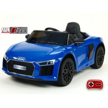 Dětské elektrické autíčko Audi R8 Spyder s 2.4G DO, 12V, lakované modré
