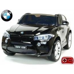 Dětské elektrické autíčko BMW X6M dvoumístné s 2,4G bluetooth ovladačem , černá metalíza