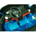 Dětské elektrické autíčko BMW X6M dvoumístné s 2,4G bluetooth ovladačem , modrá metalíza