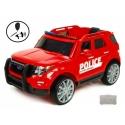 Dětské elektrické autíčko džíp USA Policie s megafonem, 2.4G DO, 12V, červený