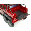 Dětské elektrické autíčko 6 kolový Mercedes G63 AMG 4x4, dvoumístný - červená metalíza