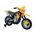 Dětská elektrická motorka crosska 6V -  červená barva