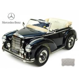 Dětské elektrické autíčko Mercedes-Benz 300S oldtimer, 12V, lakovaný černý