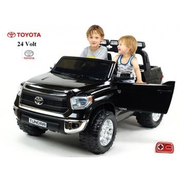 Dětské elektrické autíčko dvoumístné Toyota Tundra 24V s 2.4G DO, černá