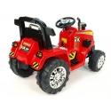 Dětský elektrický traktor 12V s 2,4G dálkovým ovládáním, 3 rychlosti, červený