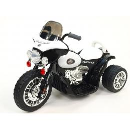 Dětská elektrická motorka Chopper na masivních kolech 6V, černá barva