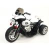 Chopper Harleyek na masivních kolech, 6V, černo-bílý