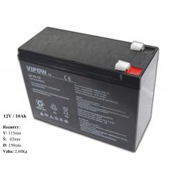Gelová nabíjecí baterie pro elektrická autíčka 12V - 10Ah/ 20HR
