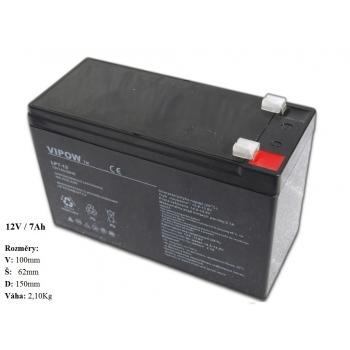 Gelová nabíjecí baterie pro elektrická autíčka 12V - 7Ah / 20HR