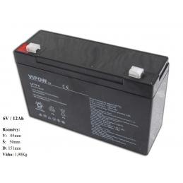Gelová nabíjecí baterie pro elektrická autíčka 6V - 12Ah / 20HR