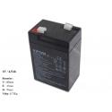 Gelová nabíjecí baterie pro elektrická autíčka 6V - 4,5Ah / 20HR