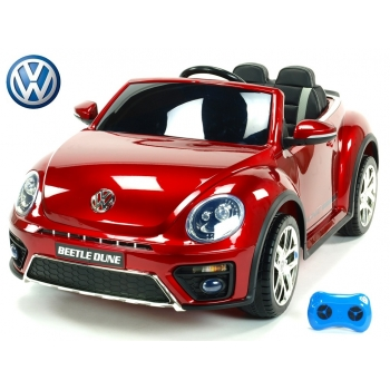 Elektrické autíčko Volkswagen Beetle Dune cabrio s 2,4G, vínová metalíza