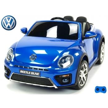 Elektrické autíčko Volkswagen Beetle Dune cabrio s 2,4G, modrý