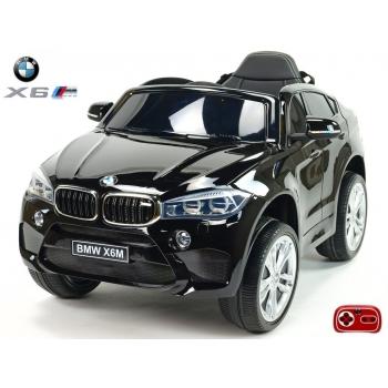 Dětské elektrické autíčko BMW X6M, 2.4 bluetooth DO, 12V, černá metalíza