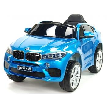 Dětské elektrické autíčko BMW X6M, 2.4 bluetooth DO, 12V, modrá metalíza