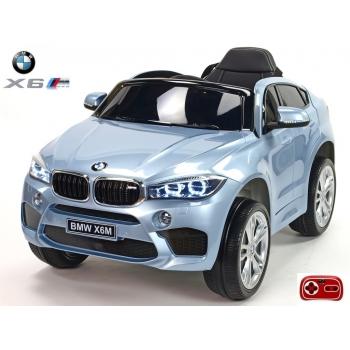 Dětské elektrické autíčko BMW X6M, 2.4 bluetooth DO, 12V, stříbrná metalíza