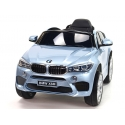 Dětské elektrické autíčko BMW X6 M, 2.4 bluetooth DO, 12V, stříbrná metalíza