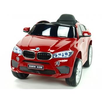 Dětské elektrické autíčko BMW X6M, 2.4 bluetooth DO, 12V, červená