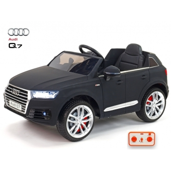 Elektrické autíčko Audi Q7 s 2,4G DO, černé matné
