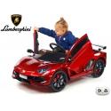 Sportovní elektrické autíčko Lamborghini Aventador lakovaná vínová metalíza