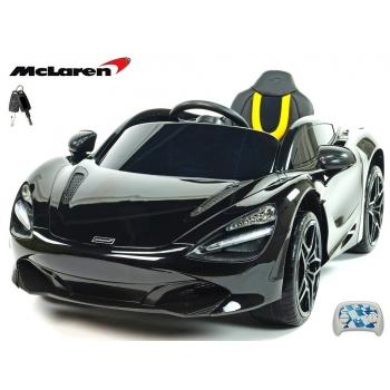 Elektrické sportovní autíčko McLaren 720S černá lakovaná metalíza