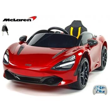 Sportovní dětské elektrické autíčko McLaren 720S lakovaná vínová metalíza