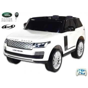 Elektrické autíčko Land Rover - Range Rover HSE 4x4 dvoumístný bílý lak