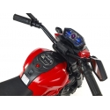 Elektrická motorka terénní Lion s plynovou rukojetí a nožní brzdou, vínová