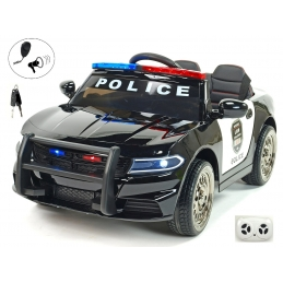 Elektrické autíčko USA policie malé s 2.4G DO, policejní sirénou a osvětlením