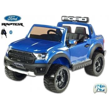 Elektrický pickup Ford Raptor policie USA, dvoumístný, modrý