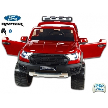 Elektrický pickup Ford Raptor policie USA, dvoumístný, červený