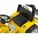 Dětský elektrický traktor 12V s 2,4G dálkovým ovládáním, 3 rychlosti, žlutý