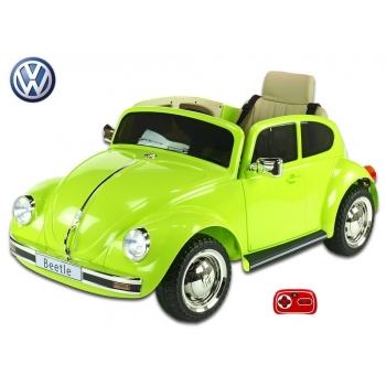 Elektrické auto VW Beetle Oldtimer, růžový