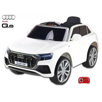 Elektrické auto Audi Q8 s 2,4G DO, bílá