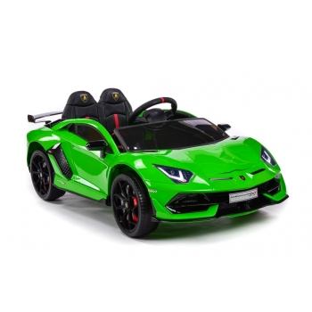 Sportovní elektrické autíčko Lamborghini Aventador lakované zelené
