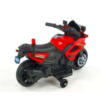 Elektrická motorka mini pro nejmenší Policie 911 červená