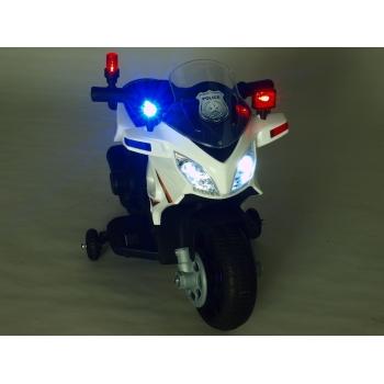 Elektrická motorka mini pro nejmenší Policie 911 modrá